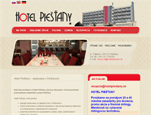 Tablet Preview of hotelpiestany.sk